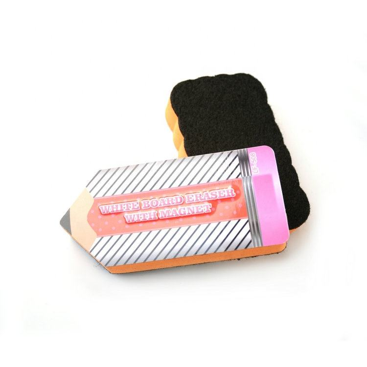 Cute and funny Pencil design shape Three dimensional relief printing Magnetic blackboard eraser
