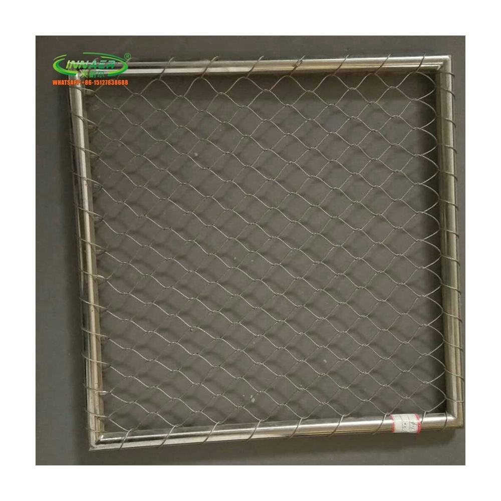 Stainless steel wire rope mesh for zoo flexible mesh;Zoo fence netting;Card buckle rope mesh