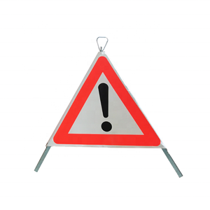 China Road Safety Products Collapsible Tripod Warning Sign Led Warning Traffic Sign