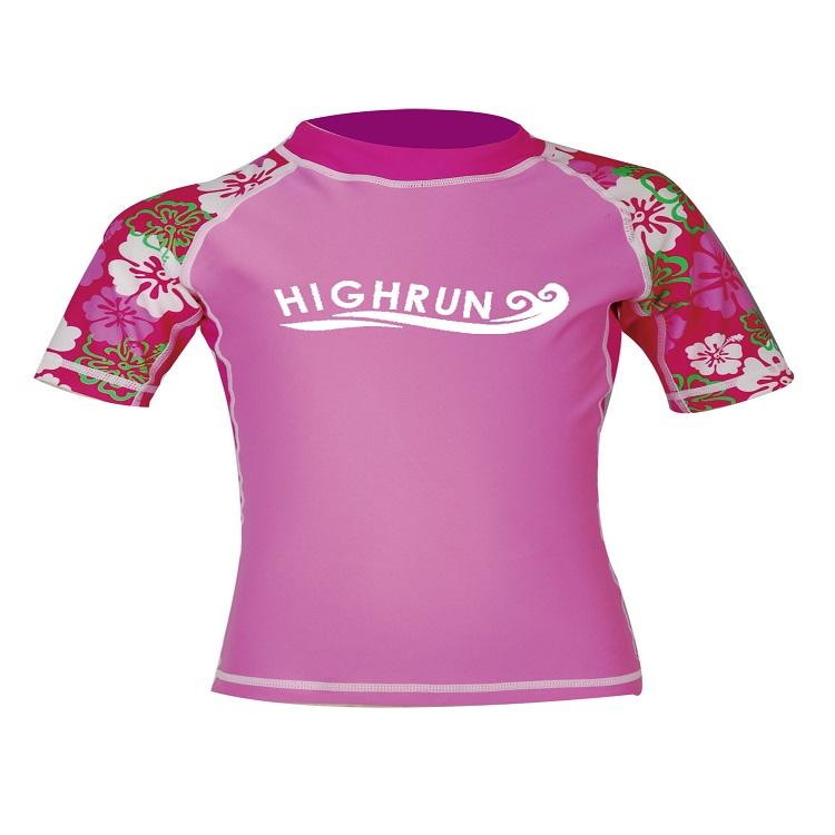 Children Lycra Short Sleeve rash guard mm Rash Vest+Pants Sun Protection Children Custom Print Rash Guar