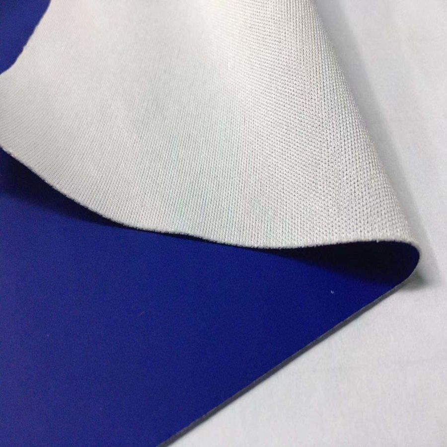 60%polyester 40%polyurethane dull matt waterproof knit stretch jersey fabric PU coated stretch spandex fabric coating pu carbon