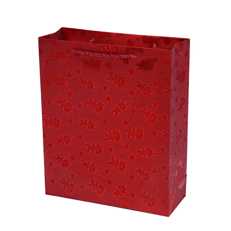 Lovely sweet packing packing paper bag cute small gift bag with handle