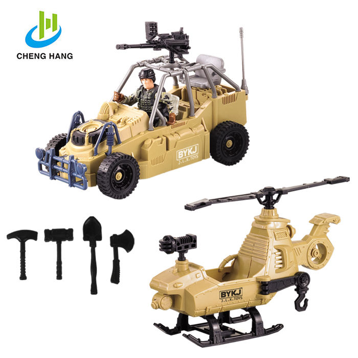 Series of Special forces / Military vehicles toy set with army soldiers & toy weapons