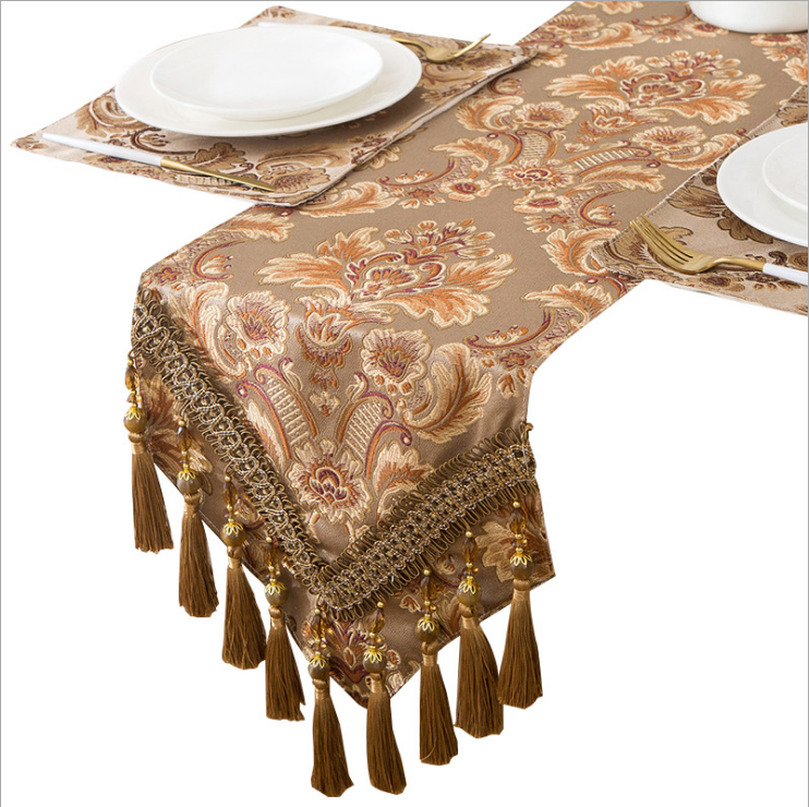 New European classical dining art coffee table dining table rectangular coffee non-slip table runner