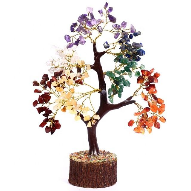 Letest Seven Chakra Healing Decoration Tree | Buy From Jilani Agate