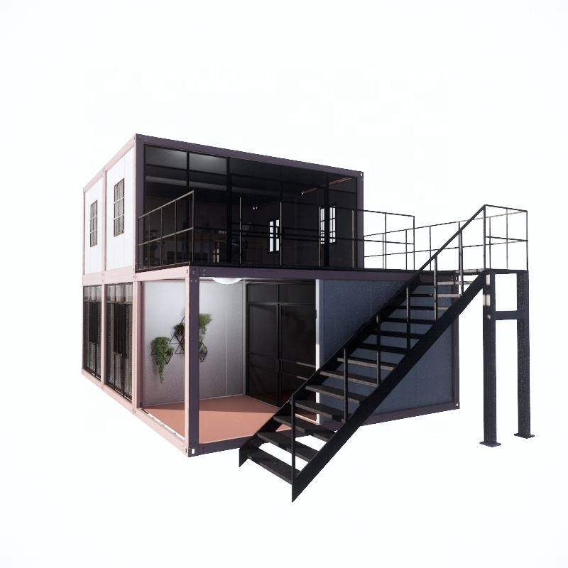 2019 China factory price light steel frame 40ft luxury prefab house for hotel