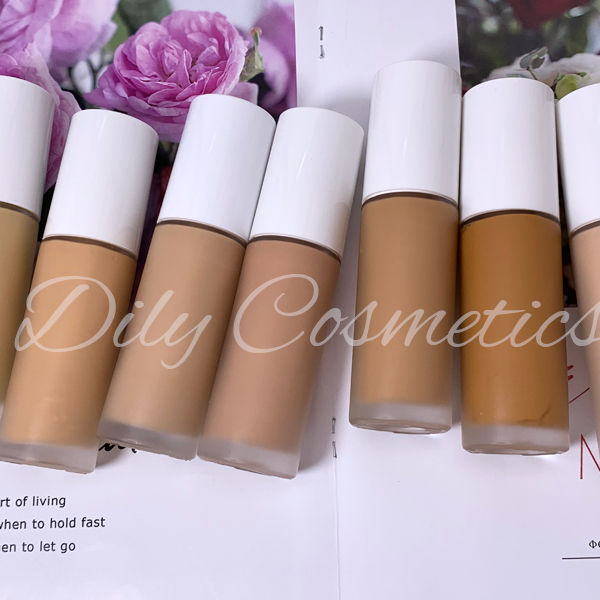 FULL COVERAGE 30 shades makeup private label liquid foundation for white or dark skin