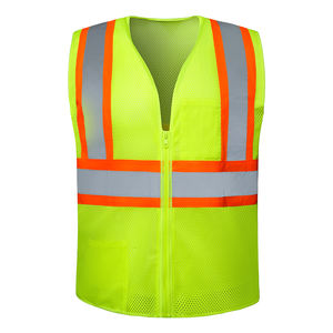 High Visibility reflective safety jacket customised logo clothing with poeckets wholesale ANSI safety work vests