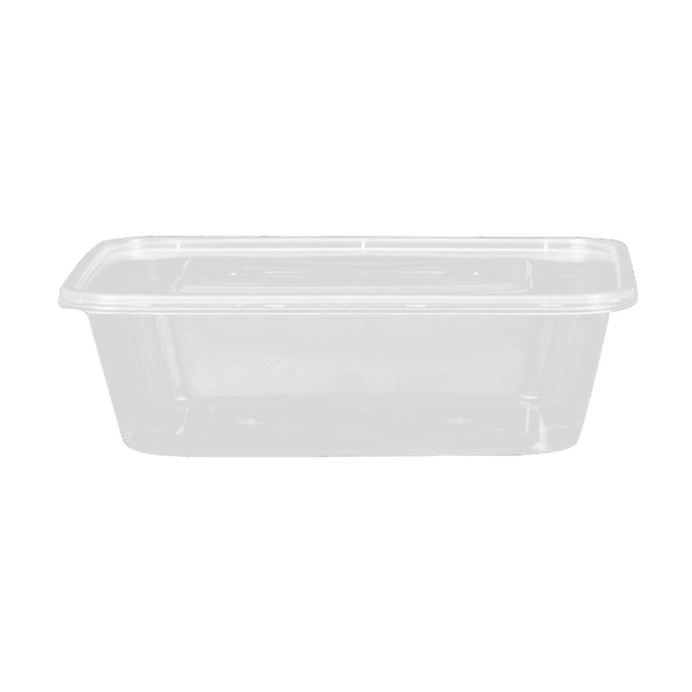 750ml square PP plastic transparent microwavable lunch box.Applicable temperatures -30 to 140 degrees Celsius