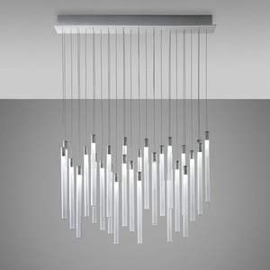 Modern Acrylic LED Tube Suspension Pendant Light Office Lighting Chandelier For Bedroom Bar Living Room Home Lighting