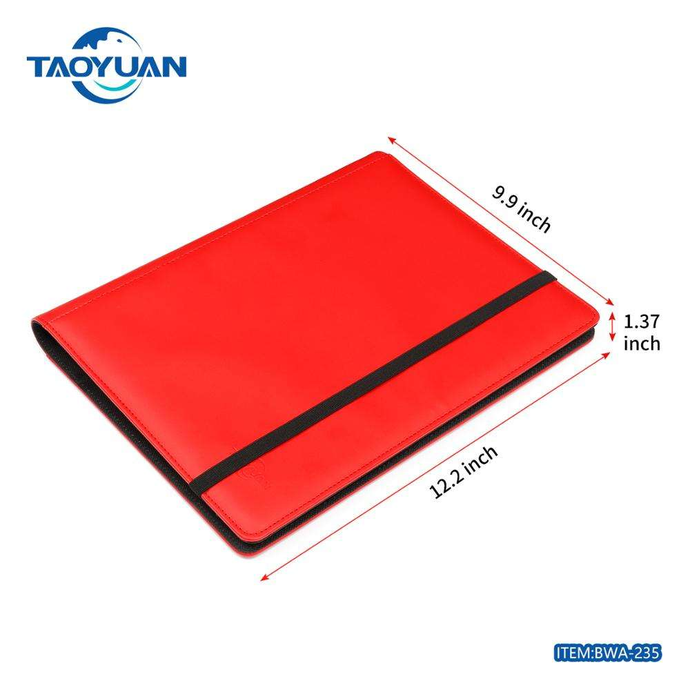 TAOYUAN Offering Leather playing card collection album pokemon album trading card albums binder with top quality factory price
