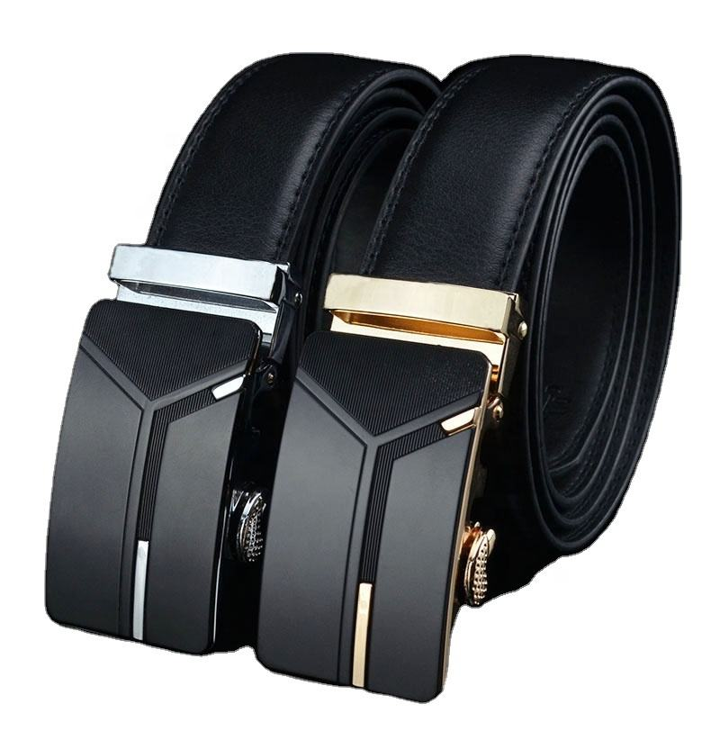 Wholesale 100 genuine cow leather belt for business men good design of polo belt plus size can adjustable allmatch men belts