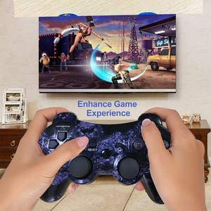 Wireless game Controller Gamepad Joystick Joypad Blau Violett Für PS3