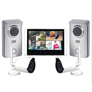 2.4G Draadloze Video Deurtelefoon Appartement Infrarood Nachtzicht Video Deurbel 4 Split Screen Draadloze Video Intercom Systeem
