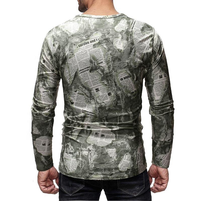 OEM hot sale cheap bulk o-neck blank long sleeve casual men t shirt advanced apparel