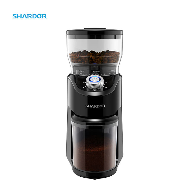 High Quality 12 cups 14 Grinding Setting Professional Conical Burr Espresso Coffee Grinder