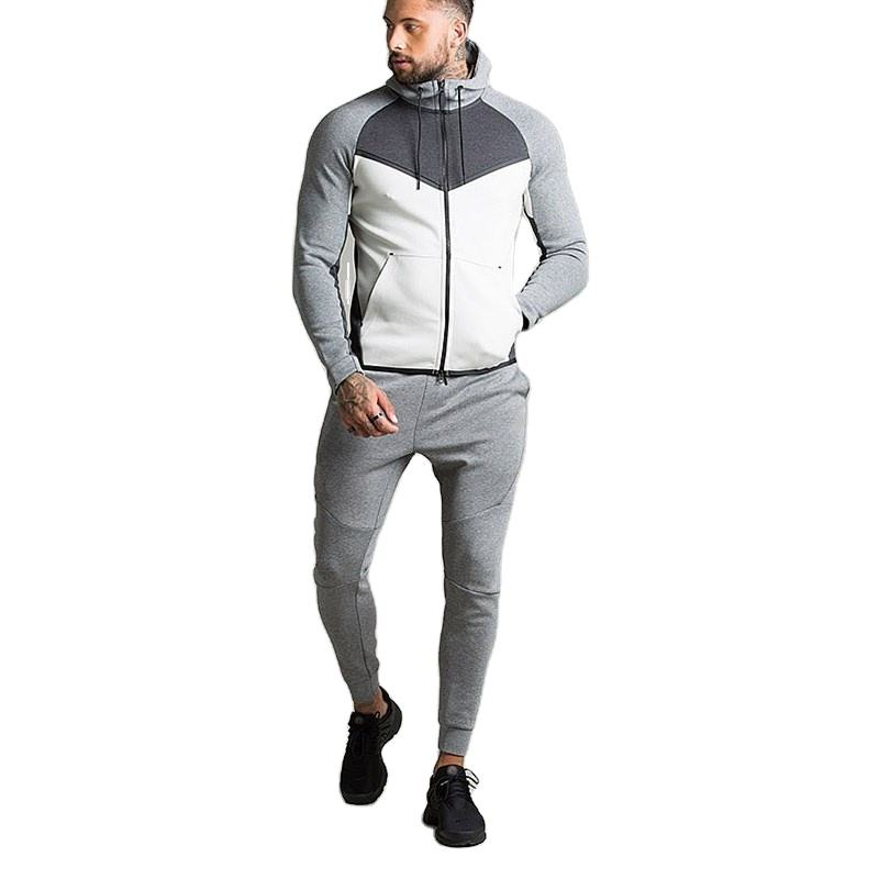 color block interlock tech fleece china cheap tracksuit
