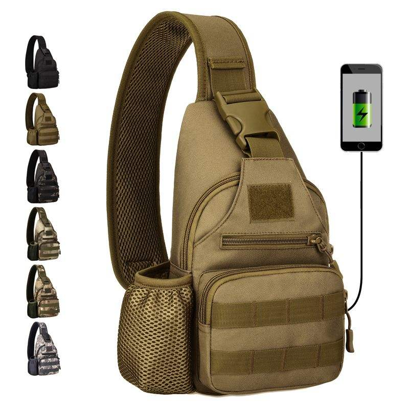 USB Charge Outdoor Military Bag Tactical Backpack Shoulder