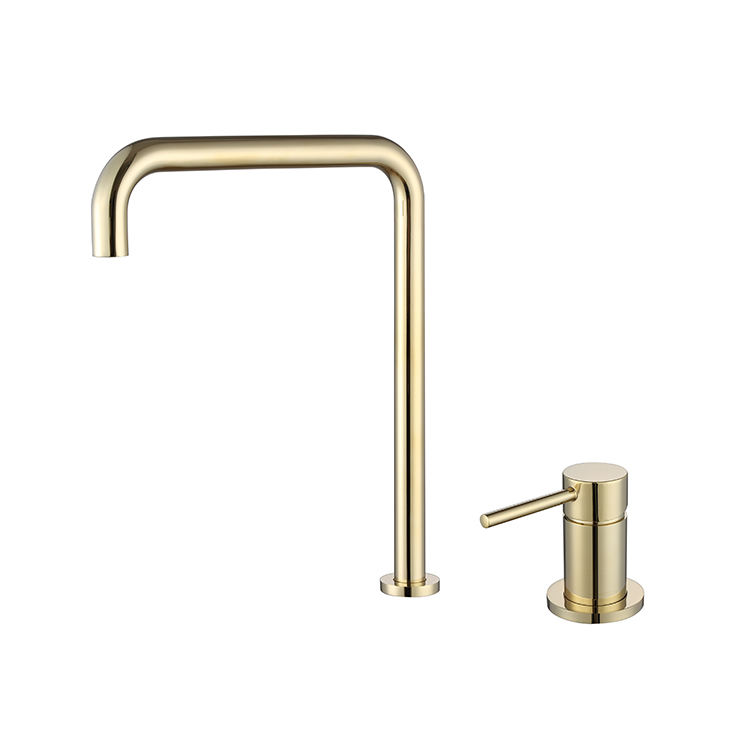 New Arrival Antique Faucet Brushed Gold Fashion Faucet Countertop Basin Faucet Copper Hot And Cold Tap Mixers
