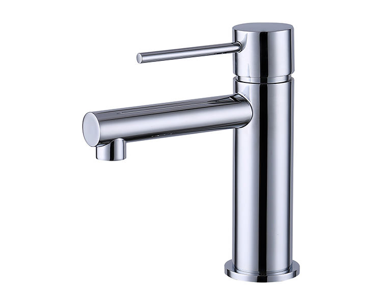 High quality brass bathroom faucet with single stick handle lever