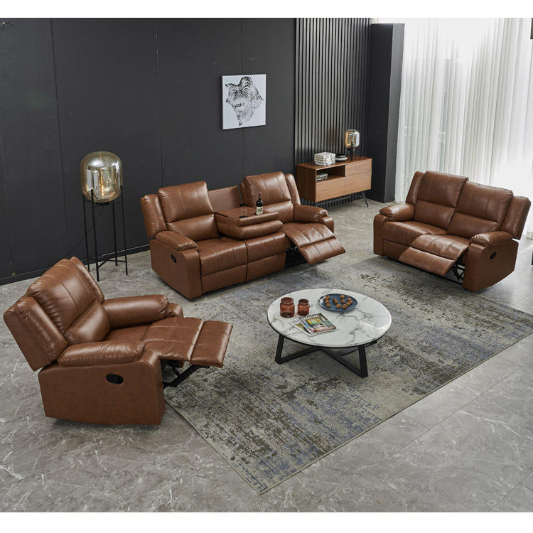 Modern Leather Sofa Luxury Furniture Living Room Sofa Italy Heated New Modern Pure Genuine Real Leather Sofa