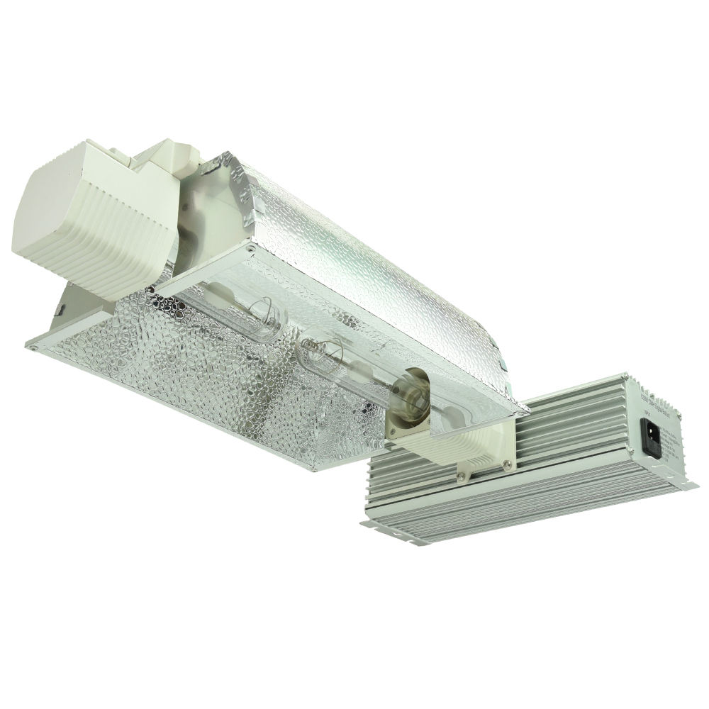 High Efficiency Dual 315W / 630W CMH Grow Light Fixture with two 315W SE Bulbs and Reflector 240V
