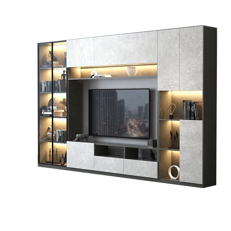 Led television showcase modern TV stand plywood mdf tv cabinet