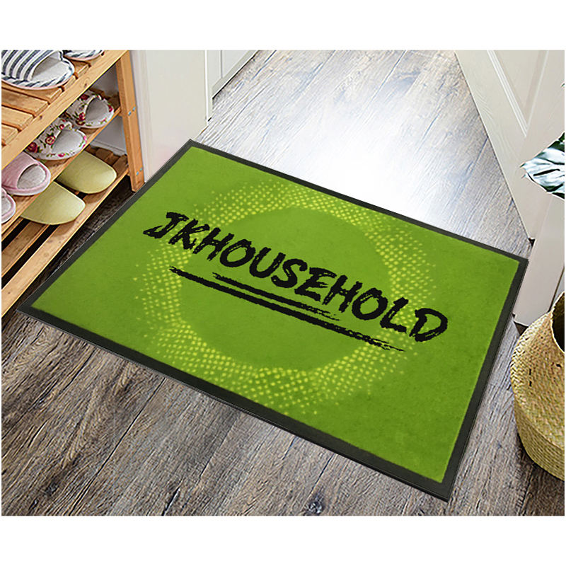 Rubber Door Mat Customized Heavy Duty Embossed Waterproof Anti Slip Natural Rubber Door Mat