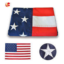 High Quality Deluxe Long Lasting 3x5ft Custom 210D Nylon America Embroidered Stars Sewn Stripes USA American flag National