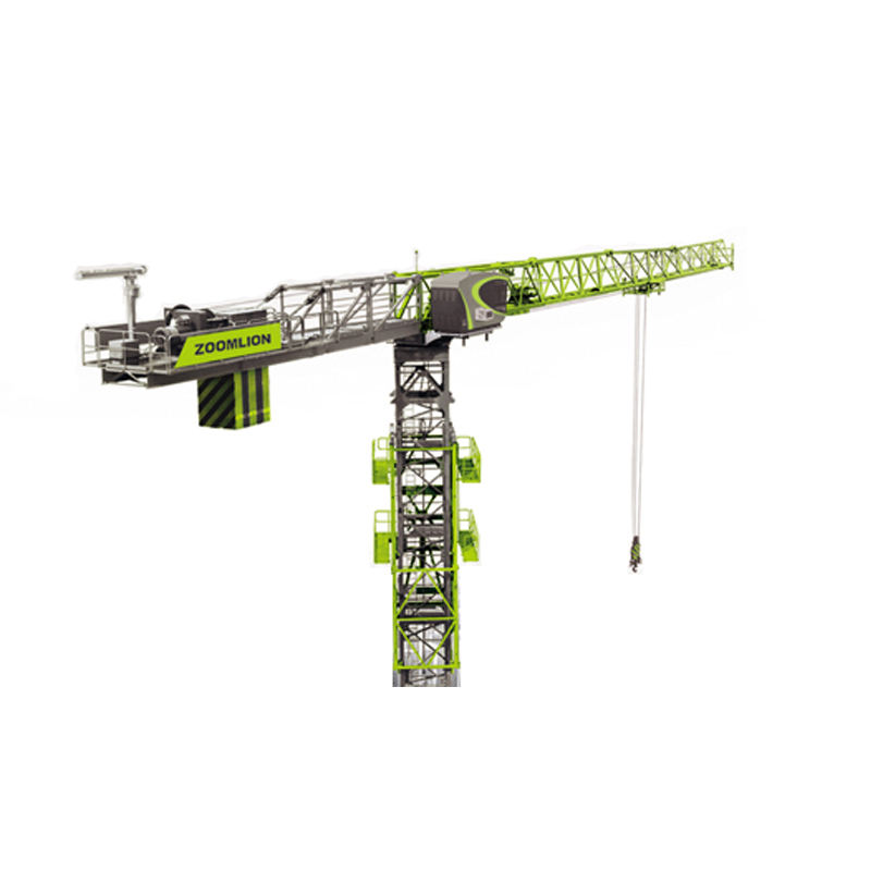 China ZOOMLION 6 ton 55m jib length Flat-top Tower Crane T5510-6 used price for sale