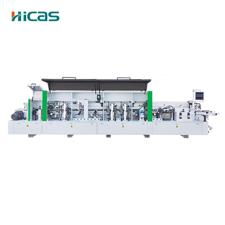HICAS Wood Furniture Machine Pre Milling Corner Rounding Automatic Edge Banding Machine With Grooving Function