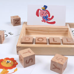 Promotion Intelligence Montessori wooden Teaching Toy Letter Spelling Game Puzzle wooden Word game