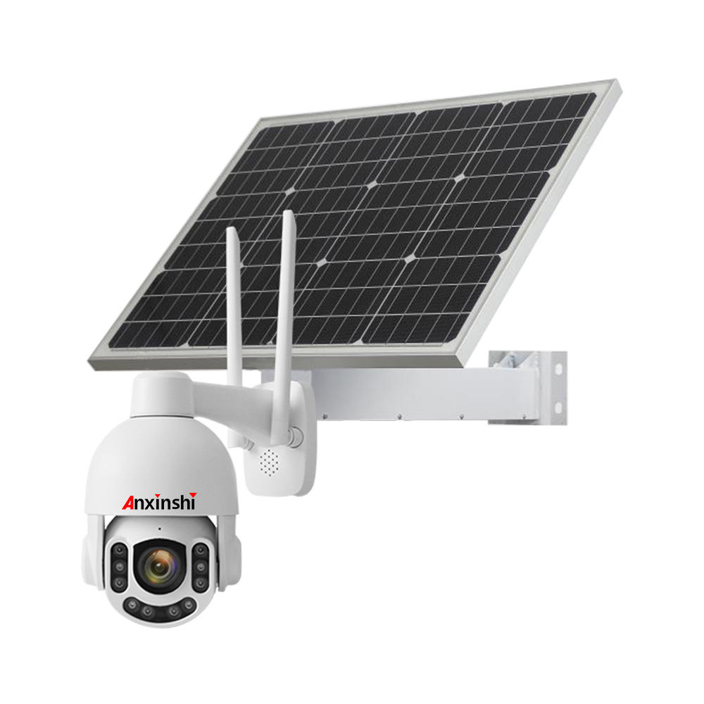 Anxinshi 5.0MP 5X Optical zoom 4G Wifi PTZ Security Camera with Solar Panel Solar Powered Outdoor Security Camera
