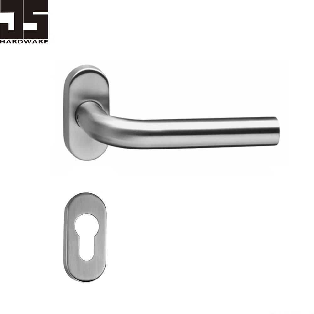 Good design Oval cover stainless steel door lever handle