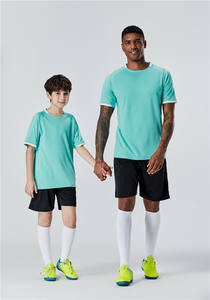 2 ensembles Séchage Rapide Parent-Enfant Nouveau Survêtement de Formation de Football Uniforme de Maillot De Football