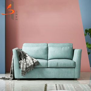 Sanhe custom 2 seat modern fabric wooden foldable sofa sleeper cum bed sofa come bed
