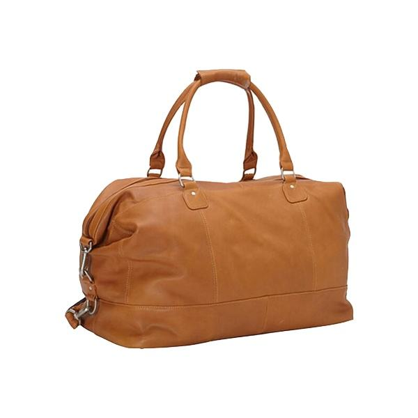 High quality orange leather travel bag overnight duffel bag women weekend bags