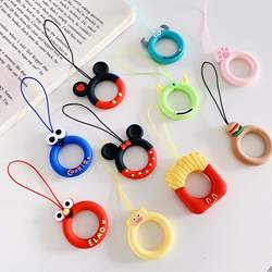 Cute Cartoon Ring Cell Phone Hanging Rope Soft Silicone Pend