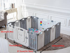 Modern Folding Safe Pe Plastic Material Foldable Baby Playpen Indoor