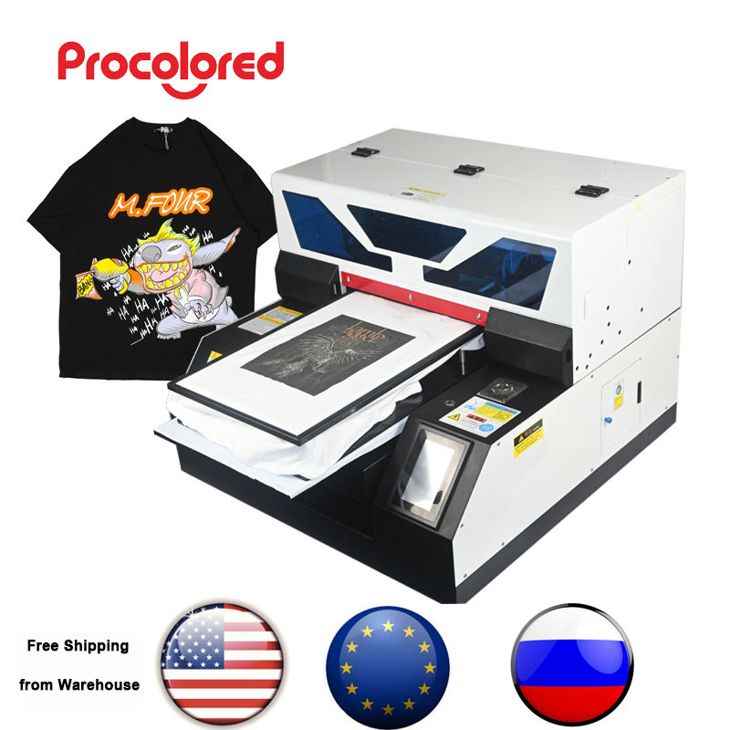 Procolored A3 Digitale <span class=keywords><strong>Flatbed</strong></span> Dtg Uv Printer Direct Naar Kledingstuk T-shirt Textiel Katoen Aangepaste Kleine Business