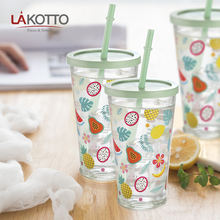Reusable Eco-friendly  670ml summer juice glass cup Printing Custom logo