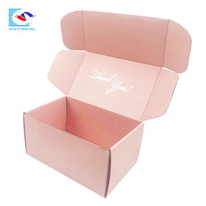 SENCAI new arrival luxury gift pack factory price corrugated shipping box wig pink box with silver foil logo