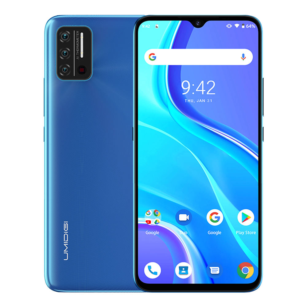 "UMIDIGI A7S 6.53"" 20:9 Large Full Screen 32GB 4150mAh Triple Camera Mobile Phone 4G Infrared Temperature Sensor Smartphone 4G"