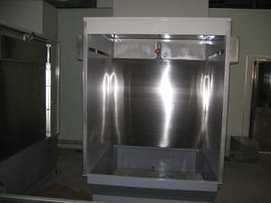 Water Curtain Small Paint Spray Booths Retractable Paint Room and Cabinet For Furniture And Equipment Surface Coating