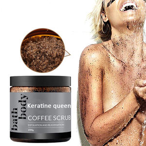 Manufacturer Private Label Exfoliating Spa coffee body scrub organic