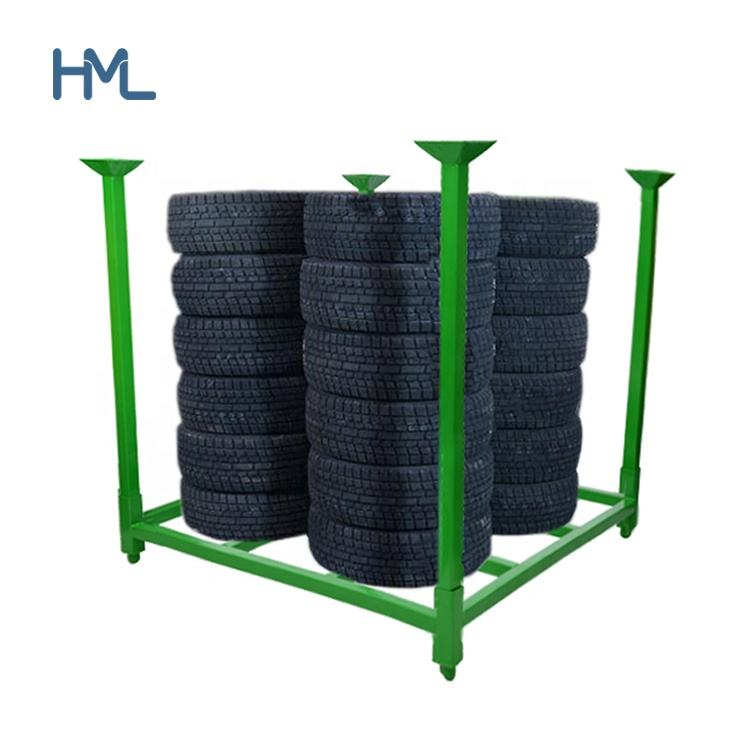 Mobile adjustable foldable stackable portable steel metal warehouse truck tire pallet racking/ rack storage system