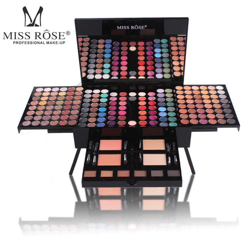 Maquillaje Profesional Miss Rose Makeup set 180 Color Matte & Shimmer Eyeshadow Palette Eye Shadow Make Up Kit Makeeye liner pen