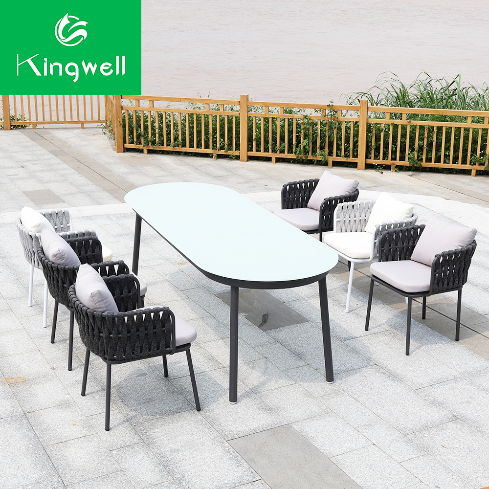 Outdoor furniture garden furniture set rope furniture table and chair