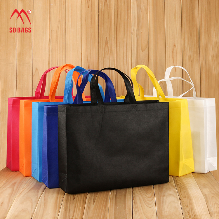 Factory Stock Ready Promotional Non Woven Tote Grocery Bag
