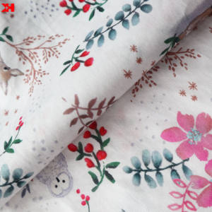100% combed organic cotton sateen fabric digital sample printed fabric for clothes